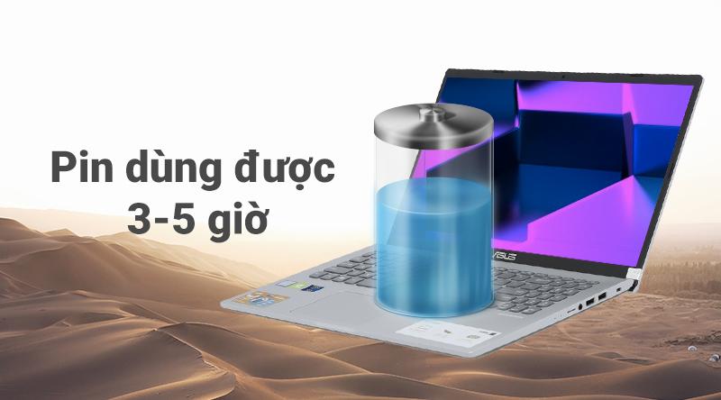 Laptop ASUS VivoBook X509FJ i5 (EJ132T) có pin từ 3-5 giờ