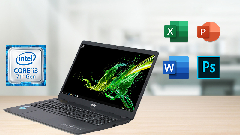 Cấu hình laptop Acer Aspire 3 A315 5457PJ i3