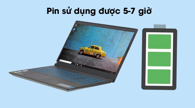 Laptop Lenovo IdeaPad L340 có pin dùng được khoảng 7 giờ