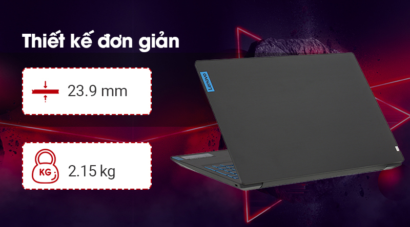 Laptop Lenovo Ideapad L340 15IRH cân nặng 2.15 kg