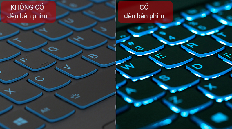 Laptop Lenovo hỗ trợ người dùng tối đa khi được trang bị đèn nền bàn phím