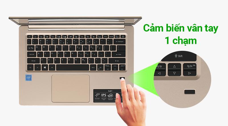 Acer đã trang bị cho sản phẩm tính năng cảm biến vân tay