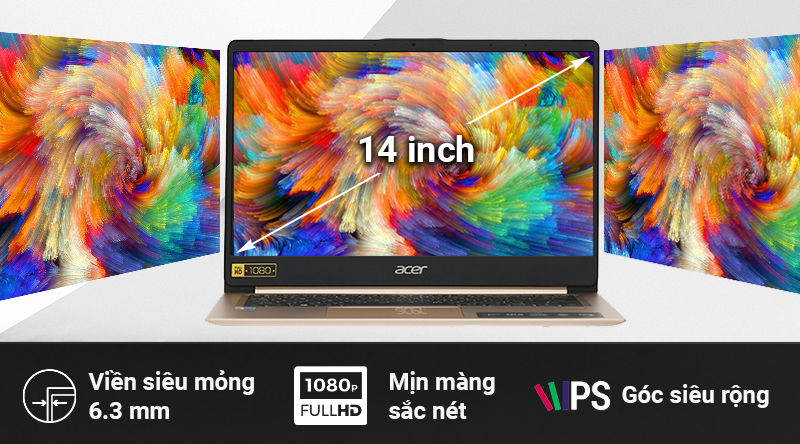 Chất lượng hiển thị hình ảnh của Acer Swift SF114 vô cùng sống động
