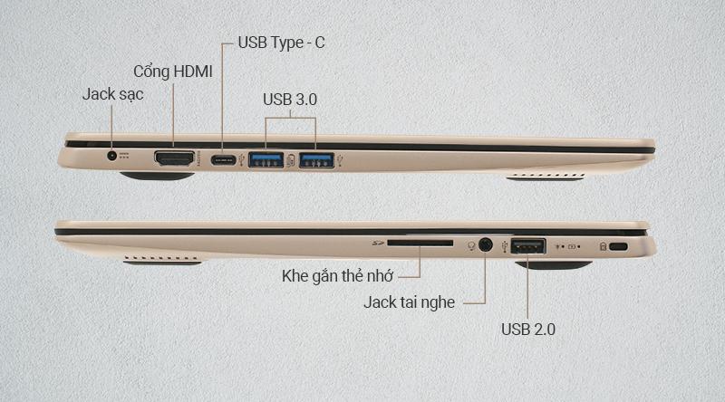 Laptop Acer Swift là sự kết hợp của các chuẩn kết nối phổ biến hiện nay
