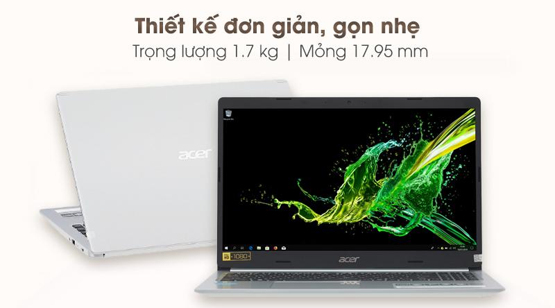 Laptop Acer Aspire A515 54 59KT đơn giản, sang trọng