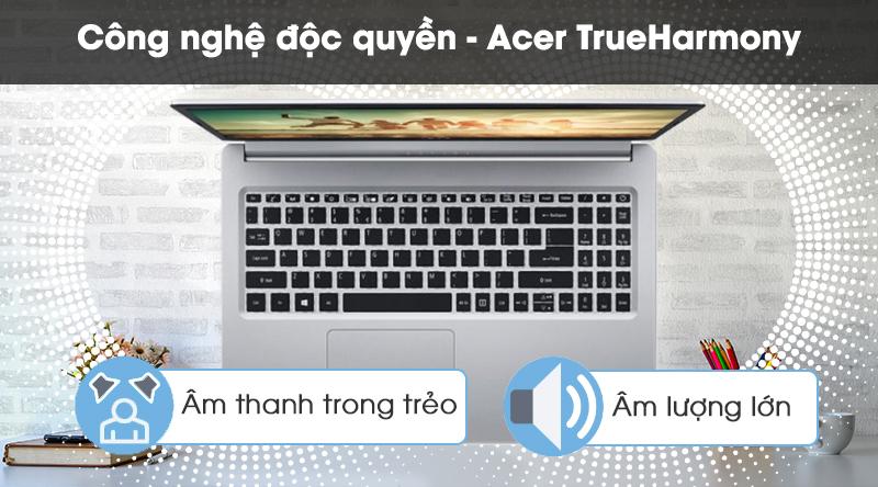 Laptop Acer Aspire A515 54 59KT được trang bị công nghệ âm thanh Acer TrueHarmony