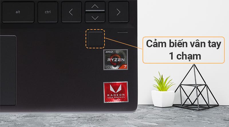Laptop HP Envy x360 ar0072AU R7 cảm biến vân tay 1 chạm