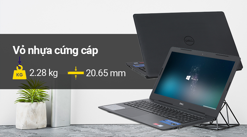 Laptop Dell Vostro 3580 sở hữu thiết kế đơn giản đặc trưng