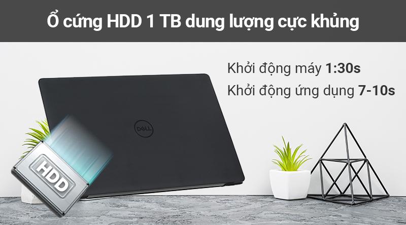 Laptop Dell Vostro 3580 sở hữu ổ cứng HDD dung lượng lên đến 1 TB