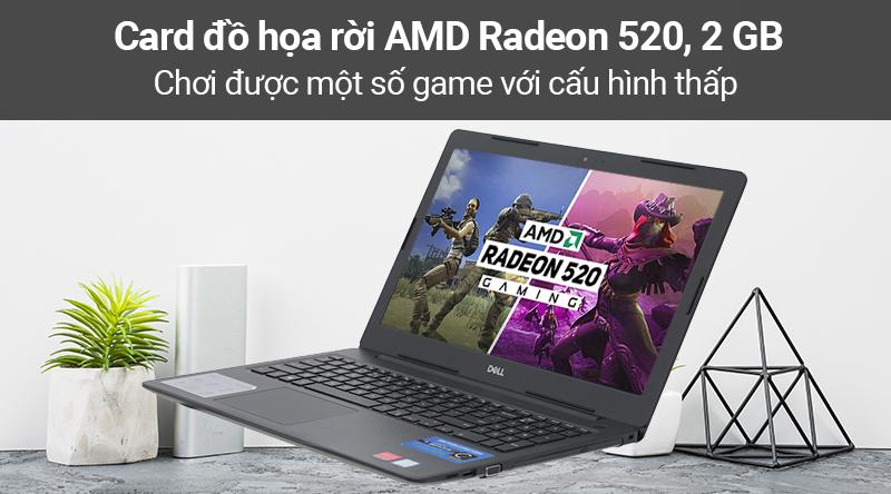 Laptop Dell Vostro 3580  trang bị card đồ họa rời AMD Radeon 520, 2 GB