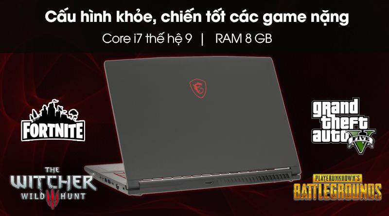 Cấu hình laptop gaming MSI GF63