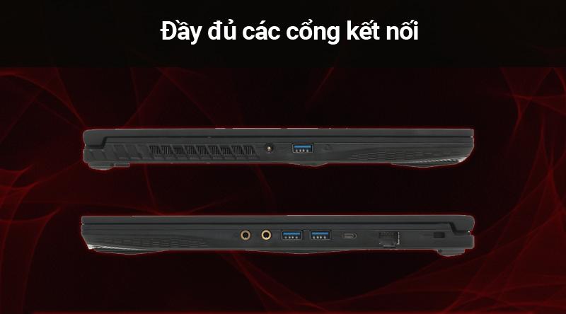Laptop gaming MSI GF63 kết nối đầy đủ