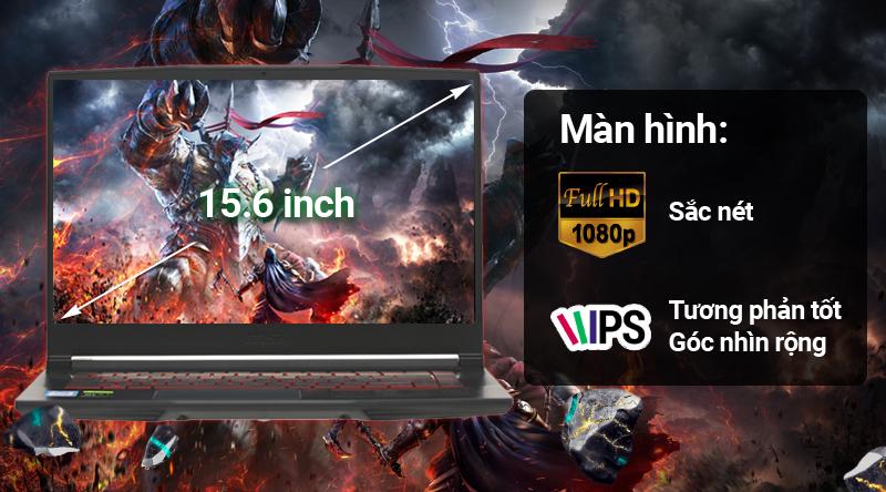 Màn hình 15.6 inch trên Laptop gaming MSI GF63