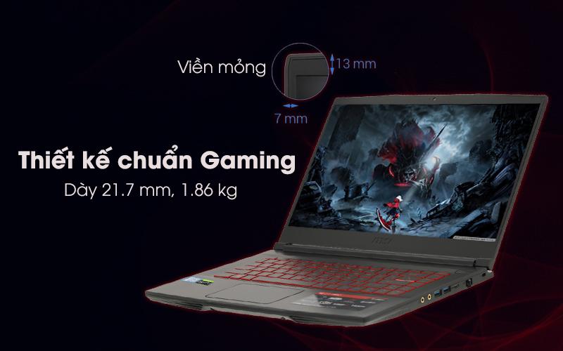 Thiết kế laptop gaming MSI GF63