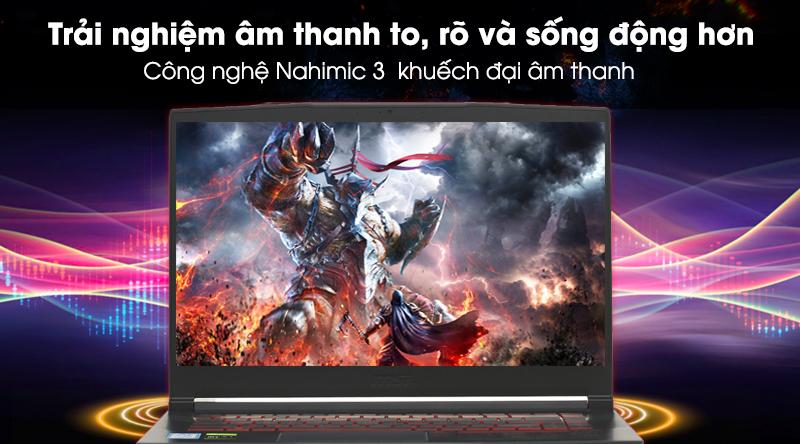 Laptop gaming MSI GF63 sở hữu công nghệ âm thanh Nahimic 3