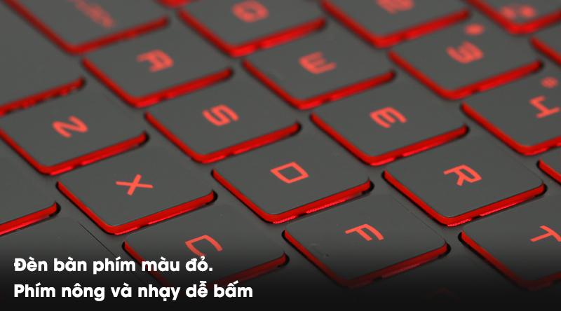 Bàn phím gaming độc đáo trên laptop gaming MSI GF63