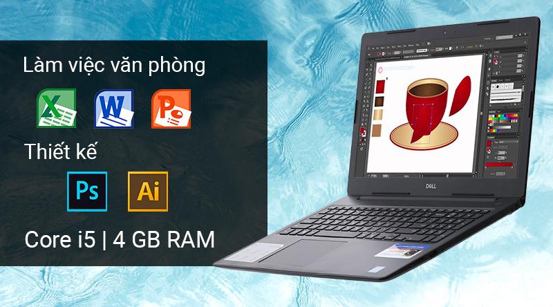 Laptop Dell Inspiron N3580  trang bị chip Intel Core i5 Coffee Lake thế hệ thứ 8 hiện đại