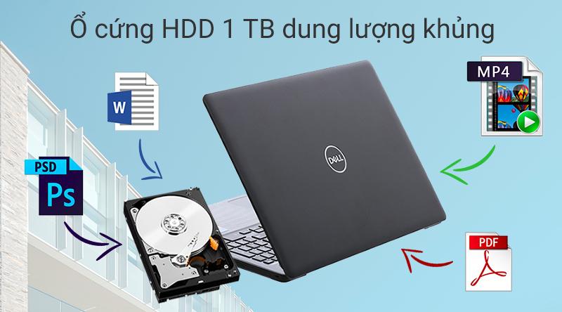 Laptop Dell Inspiron N3580 có thể lưu trữ một lượng lớn