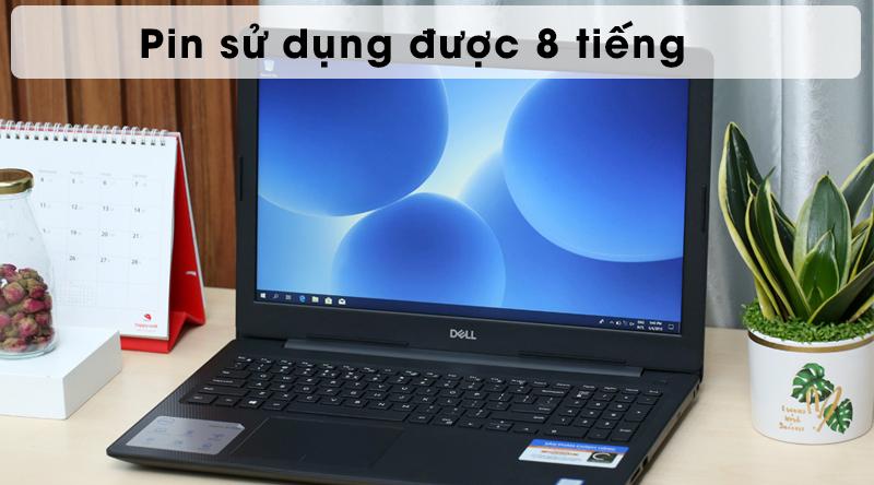 Laptop Dell Inspire N3580 có pin sử dụng được 8 tiếng
