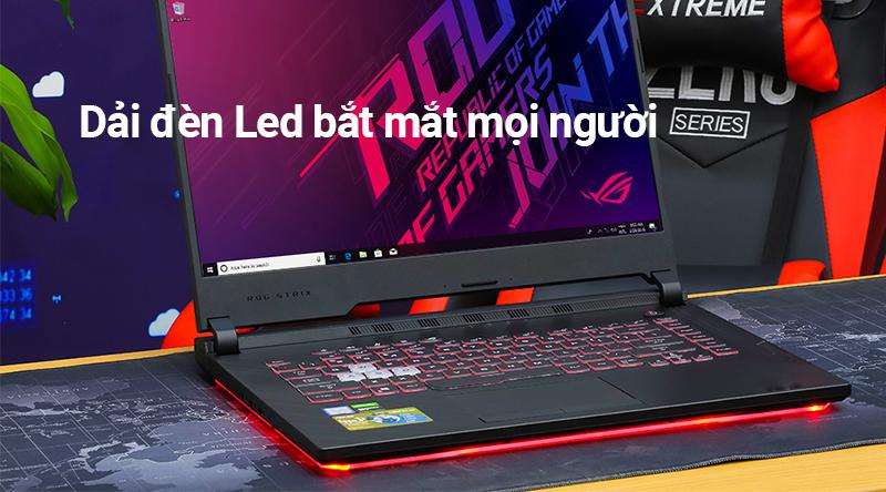 Laptop Asus ROG G531 với dải đèn led nổi bật