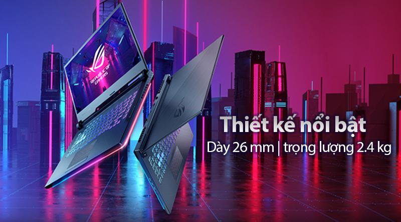 Laptop Asus ROG G531 thiết kế độc đáo