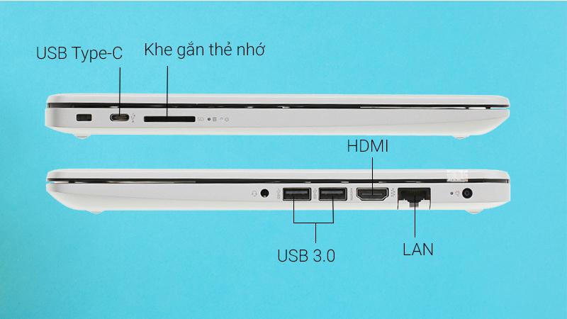 Laptop HP 348 G5 có các cổng kết nối tiện lợi