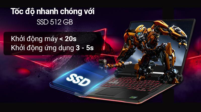 Laptop gaming ASUS ROG G531GD tăng tốc độ khởi động máy
