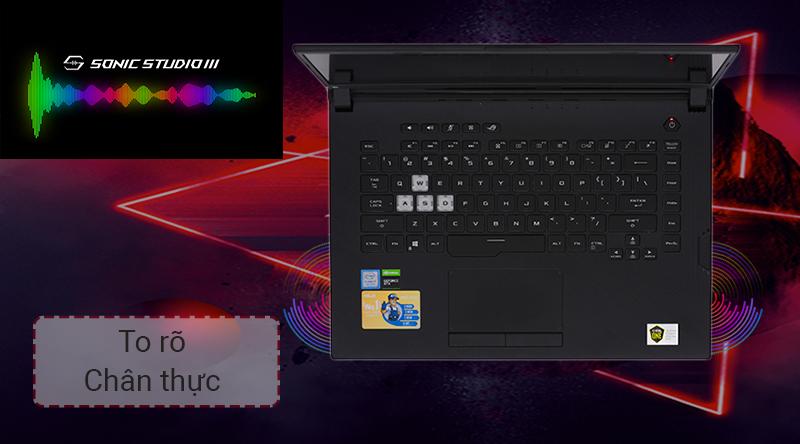 Laptop gaming ASUS ROG G531GD đem đến âm thanh vòm to rõ, sống động