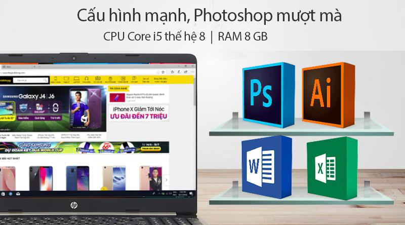 Cấu hình của laptop HP 15s du0107TU i5 (8EC94PA)