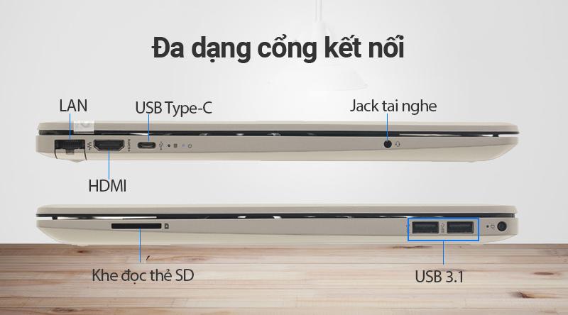 Cổng kết nối trên laptop HP 15s du0107TU i5 (8EC94PA)