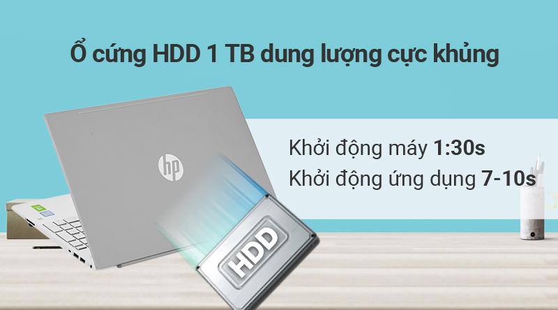 HP Pavilion 15 cs2120TX sử dụng ổ cứng HDD