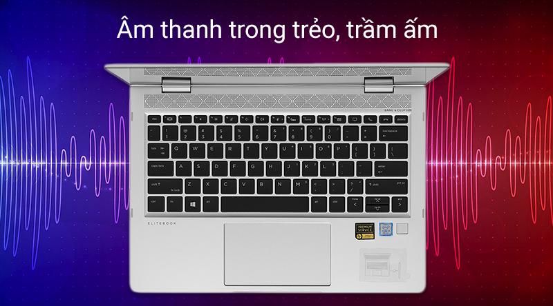 Laptop cao cấp HP EliteBook cho âm thanh rõ ràng, sống động và lọc tiếng ồn cực tốt.