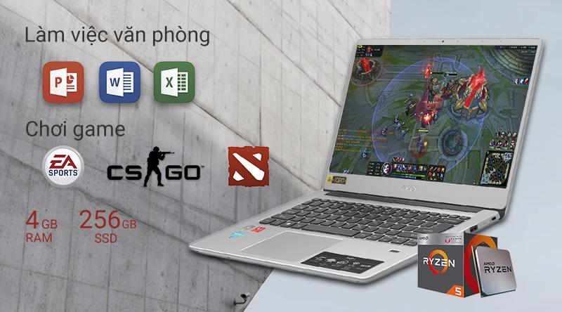 Laptop Acer Swift 3 SF314 41 R8VS (NX.HFDSV.002) có hiệu năng ổn định