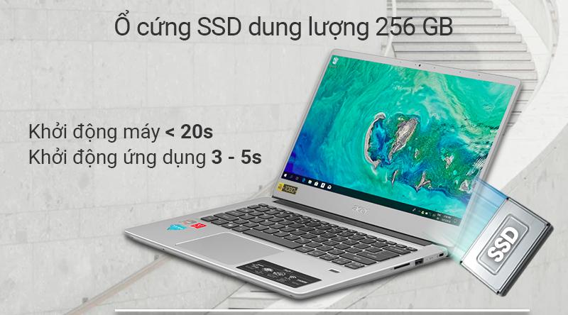Laptop Acer Swift 3 SF314 mang đến khả năng khởi động máy nhanh