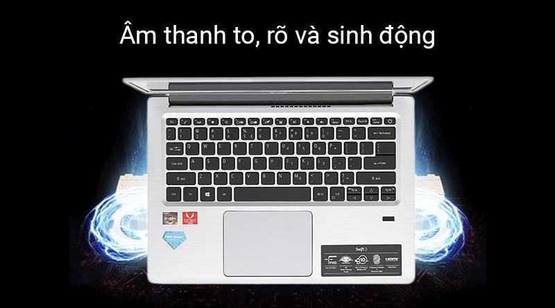 Laptop Acer Swift 3 SF314 có chất lượng âm thanh tuyệt vời