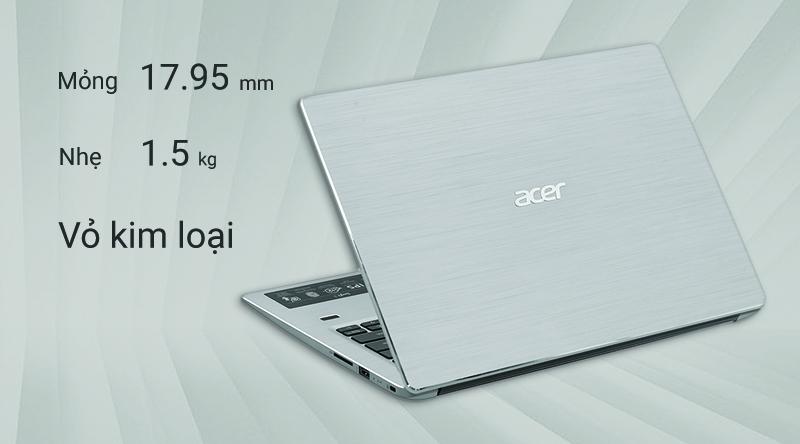 Máy tính có trọng lượng 1.5 kg và độ dày 17.95 mm