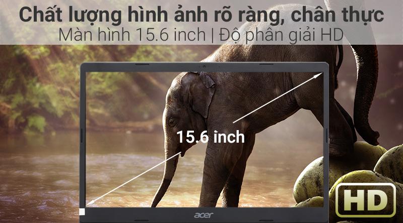 Laptop Acer Aspire A315 34 C2H9 có màn hình rộng.