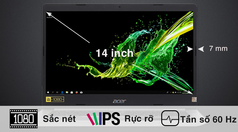 Laptop Acer Aspire A514 52 516K màn hình rõ nét