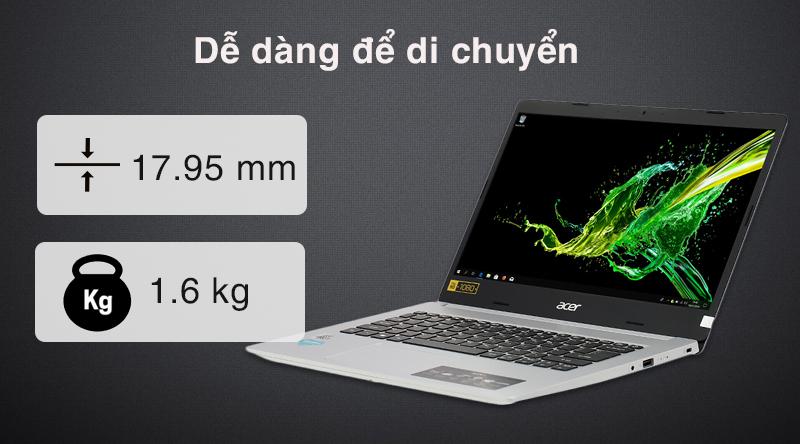 Laptop Acer Aspire A514 52 516K mỏng nhẹ