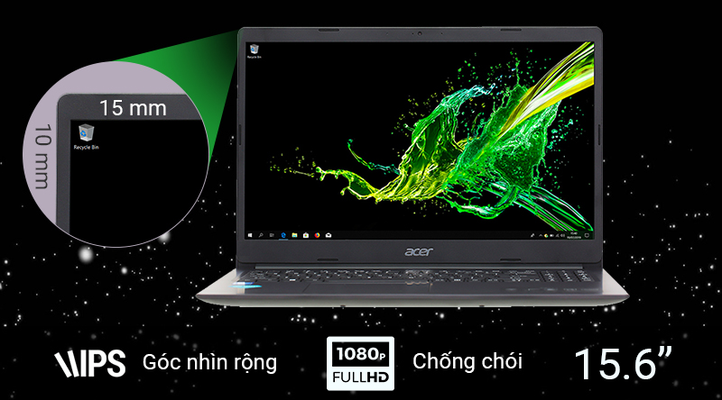 Laptop Acer Aspire A31 có kích thước 15.6 inch