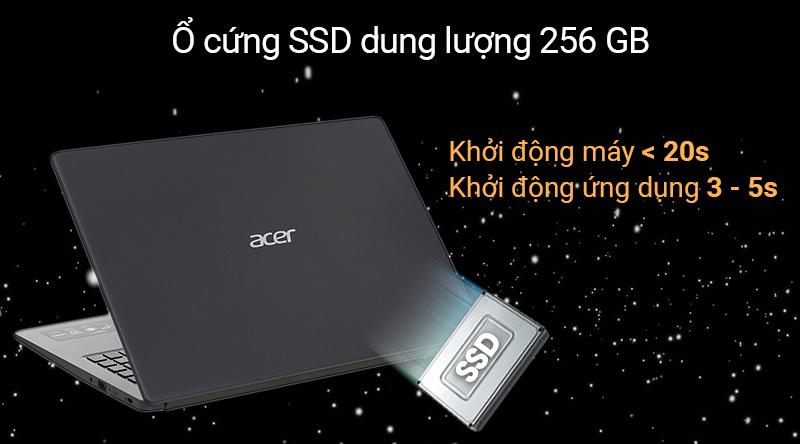 Laptop Acer Aspire A31có thể khởi động chỉ trong vòng chưa đến 15 giây