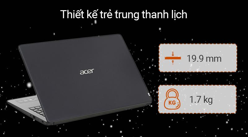 Laptop Acer Aspire A315 thiết kế đơn giản