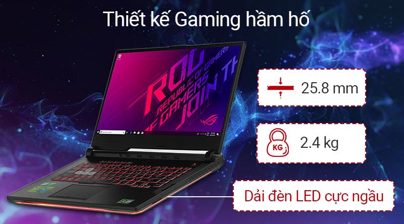 Laptop Asus Gaming ROG G531G thiết kế thời thượng, cá tính