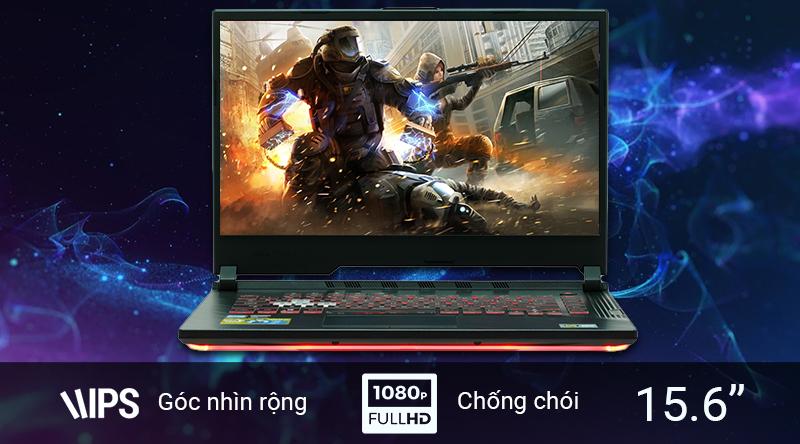 Laptop Asus Gaming ROG sử dụng màn hình 15.6 inch Full HD