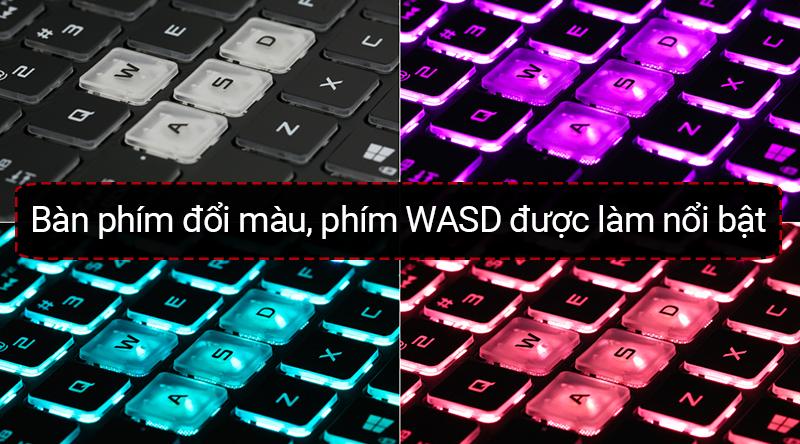 Laptop Asus Gaming ROG với đèn bàn phím chuyển màu RGB