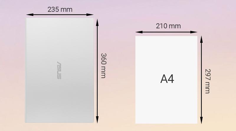 ASUS VivoBook X509U chỉ to hơn tờ A4 một tí