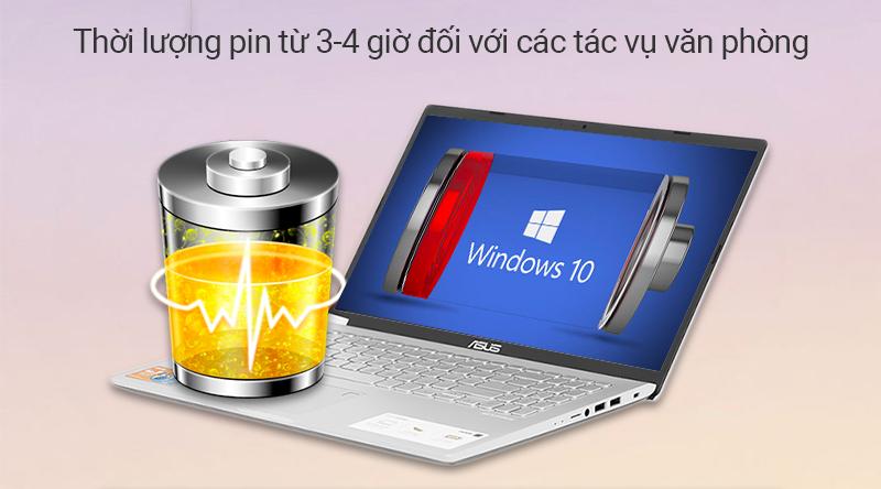 ASUS VivoBook X509U  sử dụng được khoảng 4 giờ