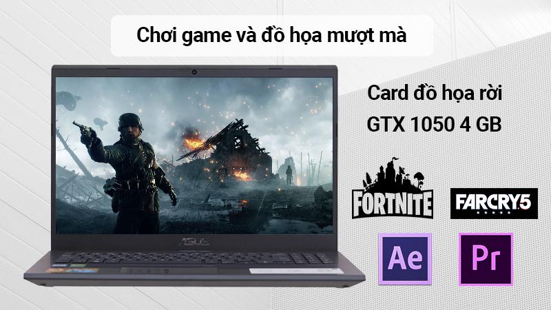 Laptop Asus F571GD chơi game và đồ họa mượt mà