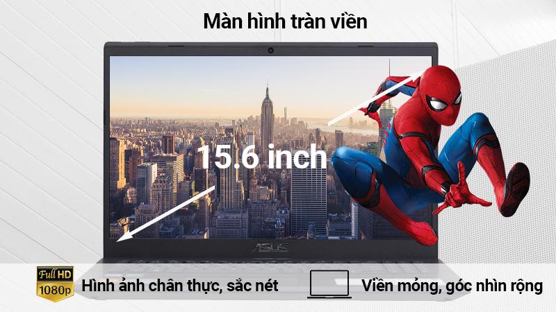 Laptop Asus F571GD sở hữu màn hình 15.6 inch Full HD