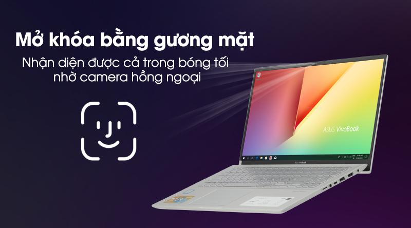 Laptop Asus VivoBook S15 S531FA mở khóa bằng gương mặt
